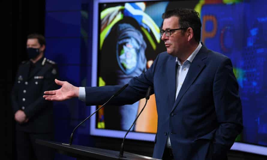 'They're not there to protest, they're there for a fight,' the Victorian premier Daniel Andrews said of the protesters on Wednesday.