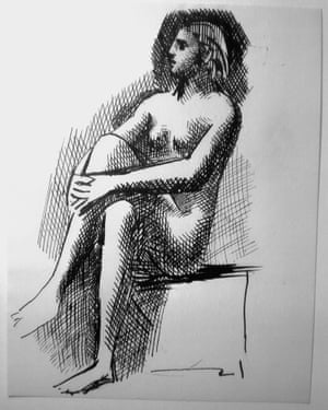 Nu Assis (Sitting nude) by Picasso.