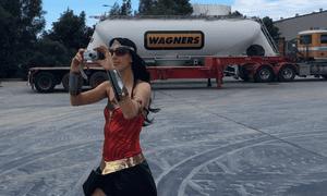 Galilee Blockade members dressed as superheroes