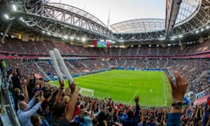 Chile play Germany in the final of the Confederations Cup at Saint Petersburg Stadium.