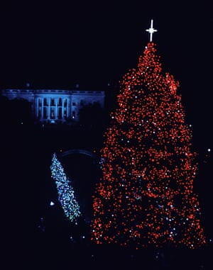 White House: Christmas.Mandatory Credit: Photo by Granger/REX/Shutterstock (8766045a) White House: Christmas. The National Community Christmas Tree At The White House In Washington D.C. Photograph By Frank Wolfe, 1965. White House: Christmas.