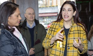 Luciana Berger campaigns With Remain activist Gina Miller in Finchley and Golders Green.