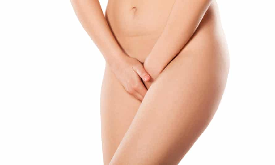 woman holding her hands over her vulva