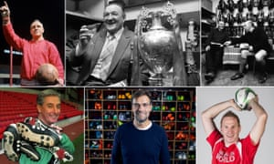 Bill Shankly; Bob Paisley enjoys a drink after the 1981-82 season; Joe Fagan and Ronnie Moran discuss business in the boot room in 1983; Roy Evans in 1994; Jürgen Klopp at Melwood; and throw-in Thomas Gronnemark.