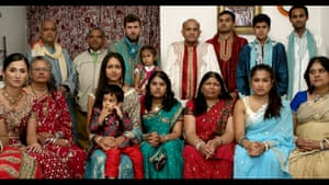 Patel says: 'I had never made a work with so many of my family members in there, it was quite a job directing everyone and performing in it. It's shot in the house that my family emigrated to from India in 1967. We have all lived there at some point.'