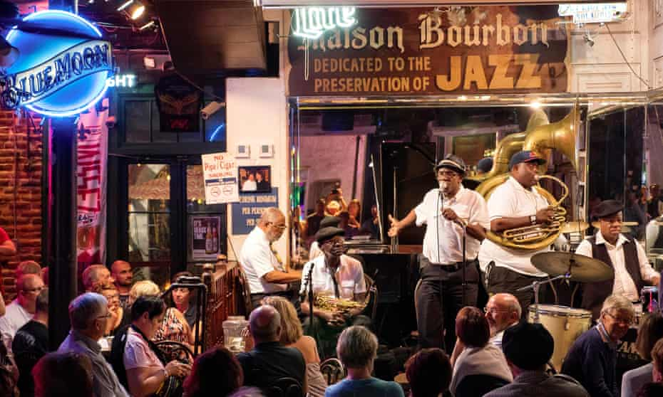 Blue Moon jazz club in New Orleans.