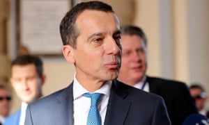 The Austrian chancellor, Christian Kern