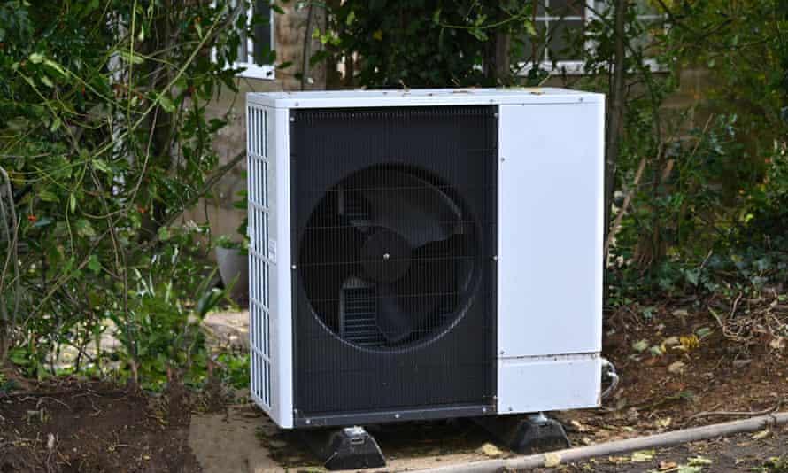 An air source heat pump for a house