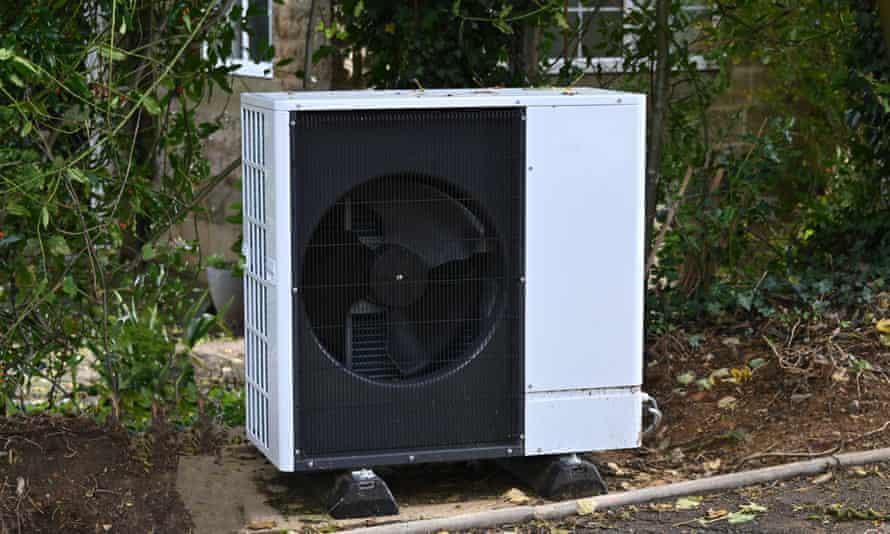 An air source heat pump.