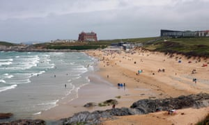 Fistral beach, Newquay. Police and community leaders say a determination to tackle antisocial behaviour has helped reduce crime in the town