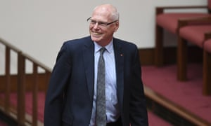 The Liberal senator Jim Molan after being sworn in at Parliament House