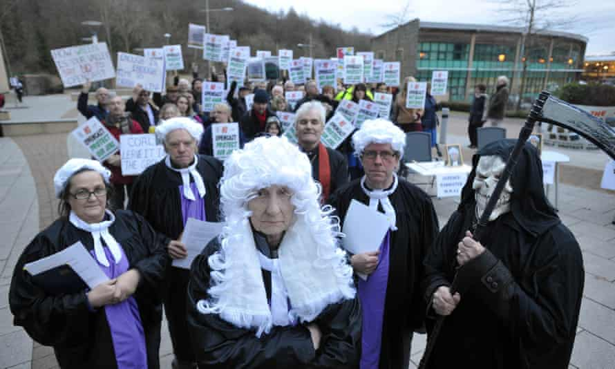 Protests against the Nant Llesg mine project in south Wales, which was eventually rejected by the local council
