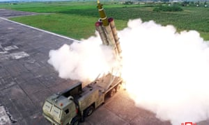 North Korea tests a rocket launcher on Saturday. Its missiles could foil Japan defence systems.