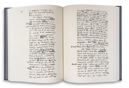 Part of original manuscript of Frankenstein