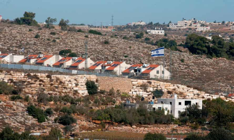 """PALESTINIAN-ISRAEL-CONFLICT-SETTLEMENT<br>The Israeli settlement of Kyryat Arba in pictured in the occupied West Bank near the Palestinian town of Hebron on November 19, 2019. - Israeli Prime Minister Benjamin Netanyahu said a US statement deeming Israeli settlement not to be illegal """"rights a historical wrong"""". But the Palestinian Authority decried the US policy shift as """"completely against international law"""". Both sides were responding to an announcement by US Secretary of State Mike Pompeo saying that Washington """"no longer considers Israeli settlements to be """"inconsistent with international law"""". (Photo by HAZEM BADER / AFP) (Photo by HAZEM BADER/AFP via Getty Images)"""
