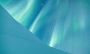Green auroral curtains.