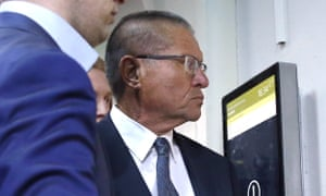 Alexei Ulyukayev appears in Moscow's Basmanny district court for a hearing into his case.