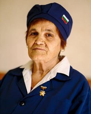 Yordana Strancheva, 83, a former purse maker in one of Dimitrovgrad's now-closed factories.