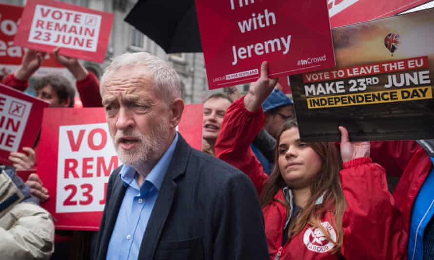 Jeremy Corbyn during a visit to Aberdeen in Scotland.