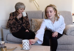 Theresa May visits a first-time buyer in Wokingham, Berkshire