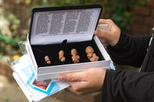 Foetus models are being used by US anti-choice groups used for sidewalk counselling in Bogota.
