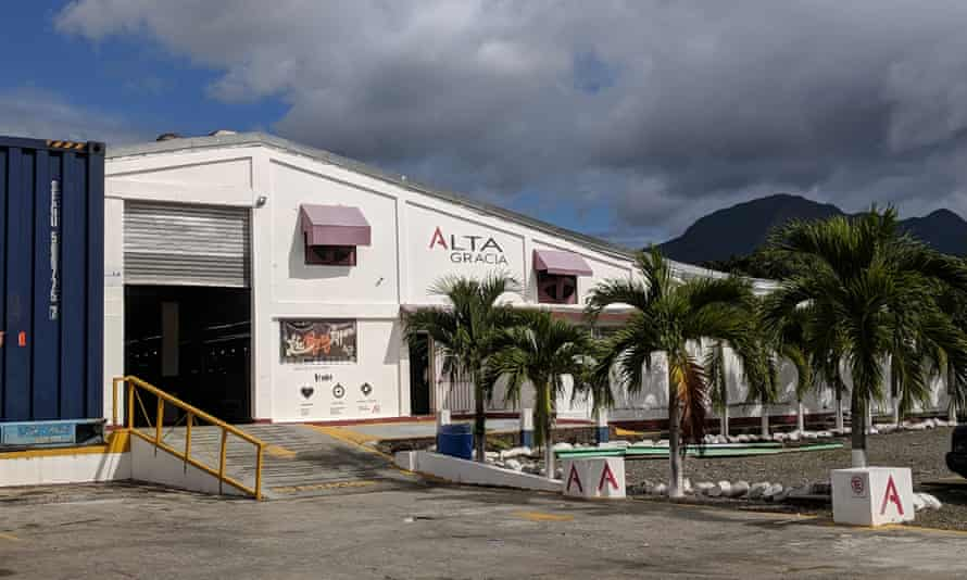 The factory is located in a free-trade zone in the lush valley of Villa Altagracia.