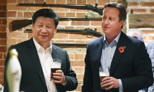 The former UK prime minister David Cameron had a pint of Green King IPA with the Chinese president, Xi Jinping, in 2015