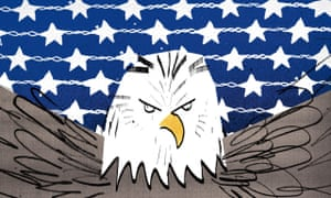 Illustration by Ellie Foreman-Peck of Trumpist American eagle