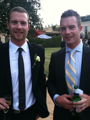 Twins Charles Beaton (left) and Lachlan Beaton are calling for marriage equality in Australia.