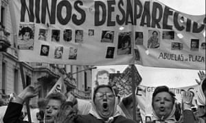 Argentina's Mothers of Plaza de Mayo human rights group, whose children have disappeared, march in Buenos Aires, 1979.