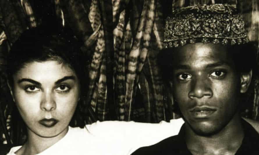 Basquiat with then girlfriend Suzanne Mallouk.