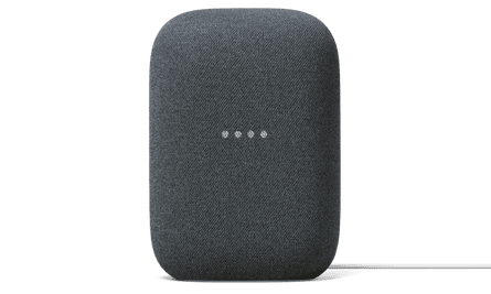 The new Nest Audio replaces the original Google Home with a fabric-covered smart speaker.