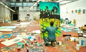Instinctive improvisation … Chris Moon in An Artist's Eyes.