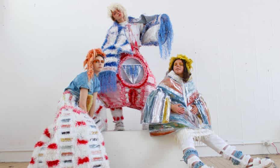Maddie Williams' collection, some of which is made from Royal Mail sacks.