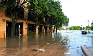 Large areas of Houston are under water after the torrential rains.
