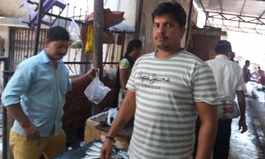 Laxman Chauhan at the fish market in Panjim, Goa.