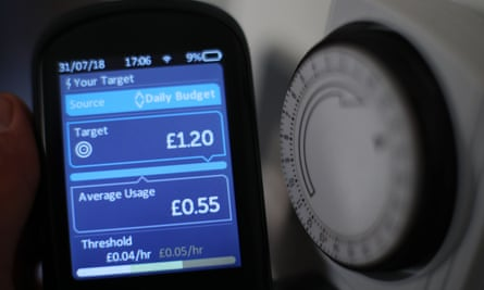 A smart meter by a thermostat
