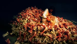 Marina Abramović Balkan Baroque performance, 4 days, 6 hours, XLVII Biennale, Venice, June 1997