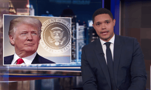 Trevor Noah: 'Clearly the president doesn't believe in the science and the English.'
