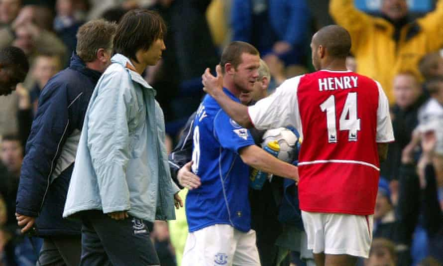 Rooney and Thierry Henry