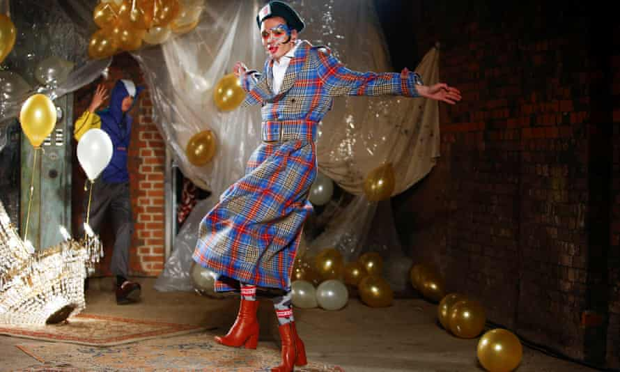 The Charles Jeffrey Loverboy catwalk show at London Fashion Week Men's in January