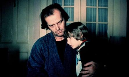 Danny Lloyd with Jack Nicholson in The Shining.