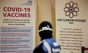 A pop-up vaccination centre at the East London mosque in Whitechapel.
