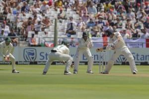 Pope sends it to the boundary for four.
