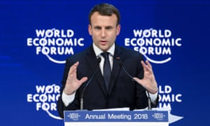Emmanuel Macron addresses the annual World Economic Forum.