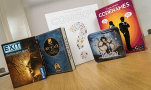 Board games for Christmas: EXIT, Wordsy, Concept, Timeline and Codenames