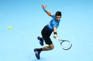 Djokovic takes the first set.