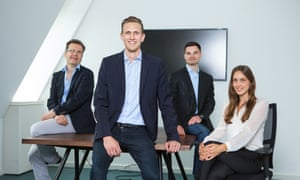 The IPlytics team (L-R): Sebastian Rose, lead software architect; Tim Pohlmann, CEO and founder; Dmtri Gerats, CTO, Rosann Brandt, COO and communications director.