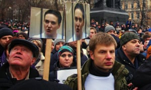 Protesters in Moscow call for Nadiya Savchenko's release