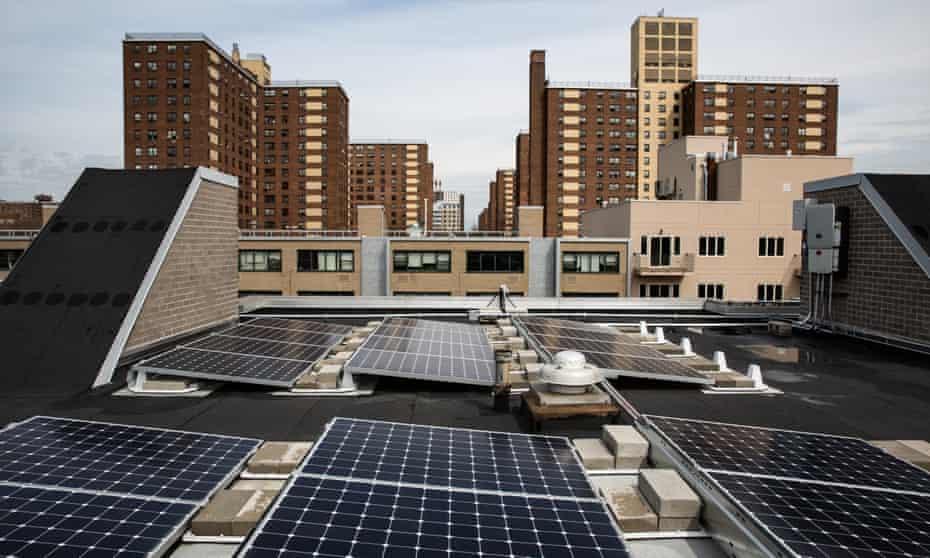 Rooftop solar at Marcus Garvey Village, Brooklyn, NYC